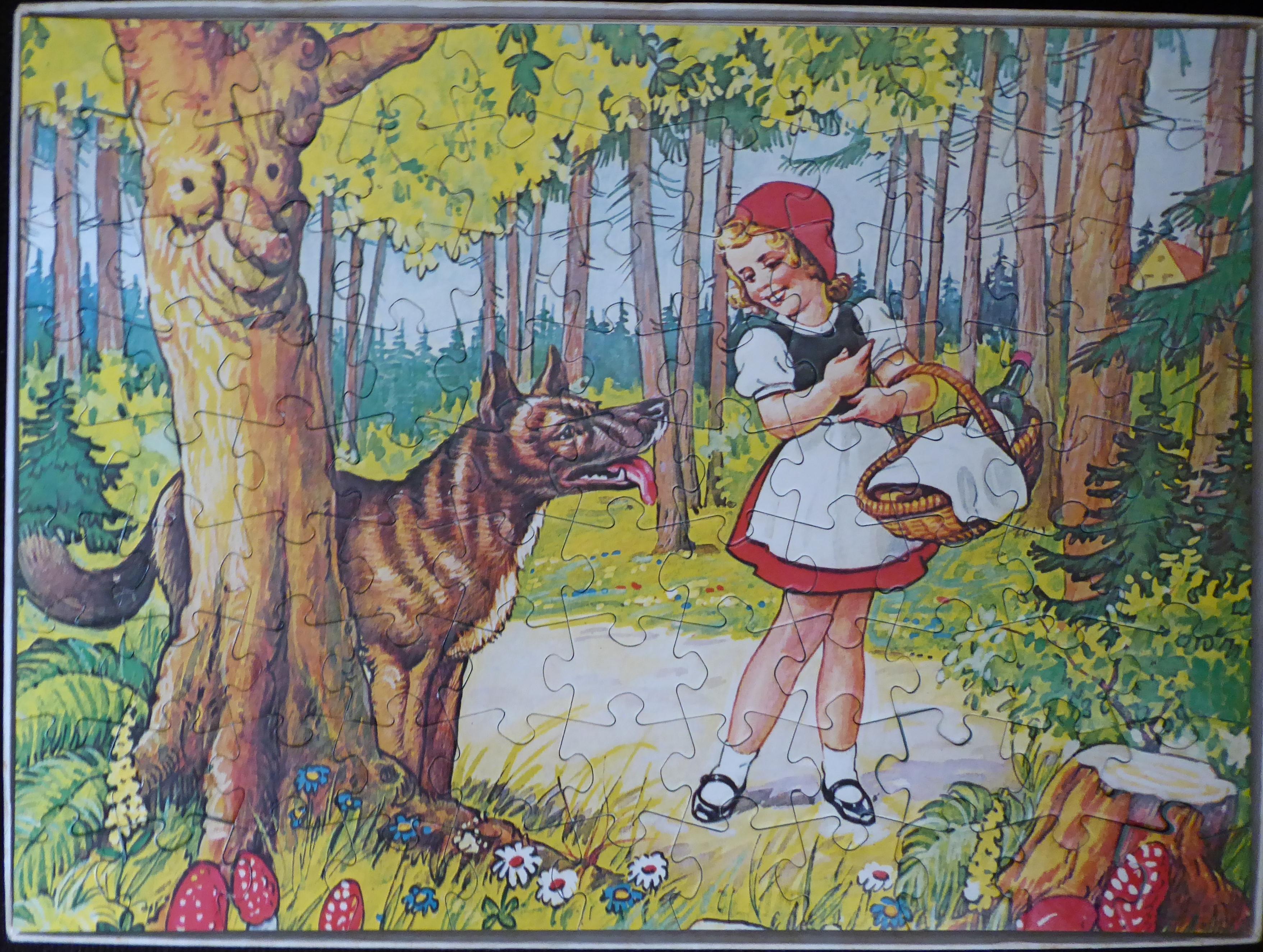 Spiksplinternieuw Roodkapje en de wolf – Puzzel – Flamenco – Zomaar Vintage XX-41